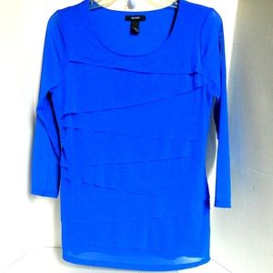Alfani blouse Sheer Layers on Stretch Blouse S